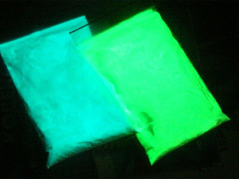Свечение люминофора ТАТ 33 в темноте