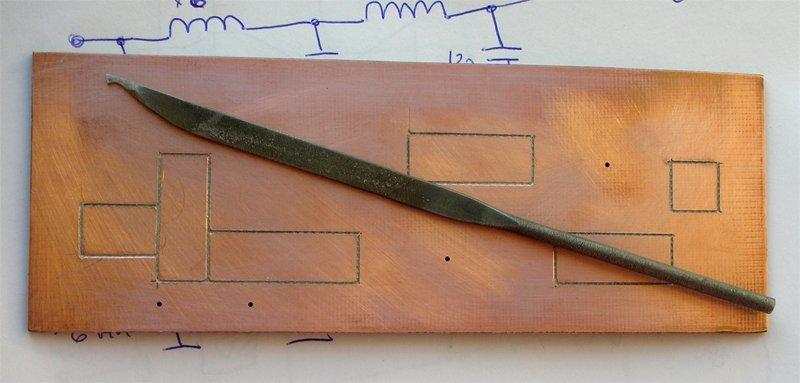 Изготовленная плата фильтра гармоник (ФНЧ) передатчика