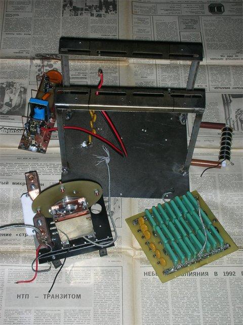 Блоки трансформатора тесла с питанием от 12 вольт